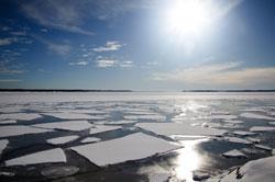 Ice blocks in arctic ocean
