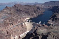 Dam in mountainside