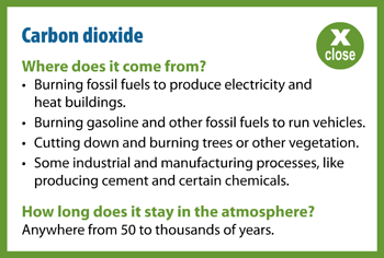 Carbon Dioxide Popup Information