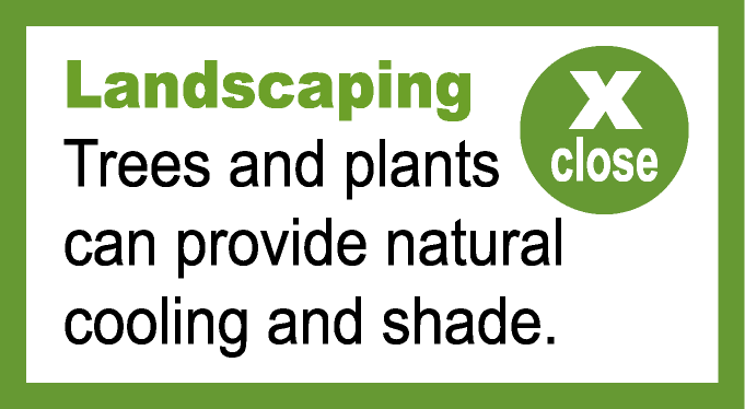 Landscaping popup information