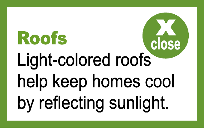 Roofs popup information