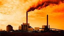 Emissions at sunset