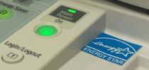Office Copy Machine with Energy Star logo