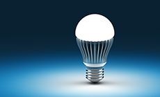 Photo of an LED lightbulb
