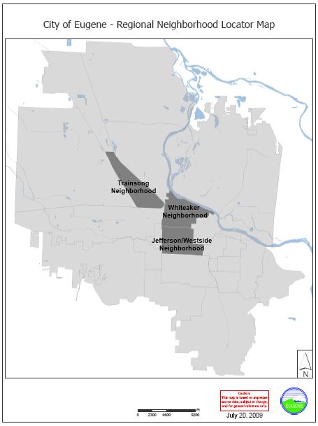 City of Eugene- Regional Neighborhood Locator Map