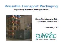 Reusable transport Packaging