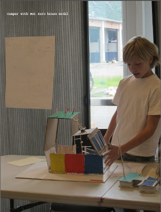 Architecture and Design Camp student
