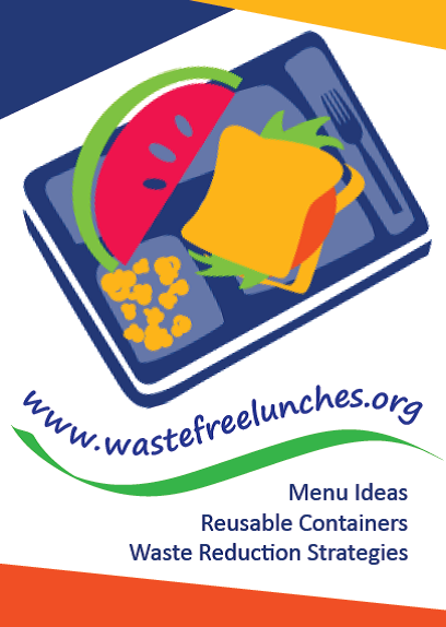 "waste free lunch 2""x3"" magnet promototion"
