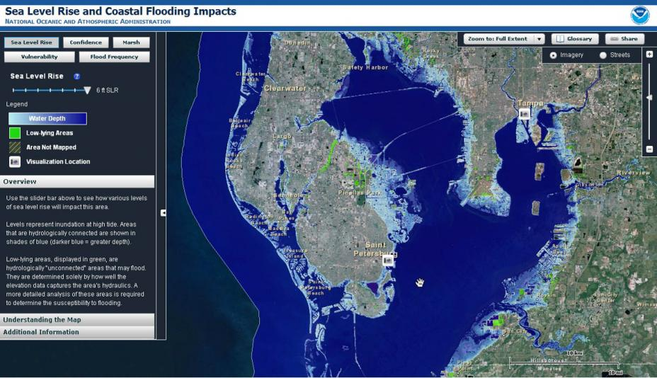 Climate Impacts On Coastal Areas Climate Change Impacts US EPA - Us sea level rise map