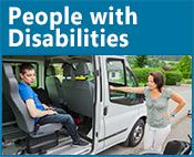 People with Disabilities icon: image of a person in a handicap-accessible vehicle