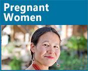 Pregnant Women icon: image of a pregnant woman