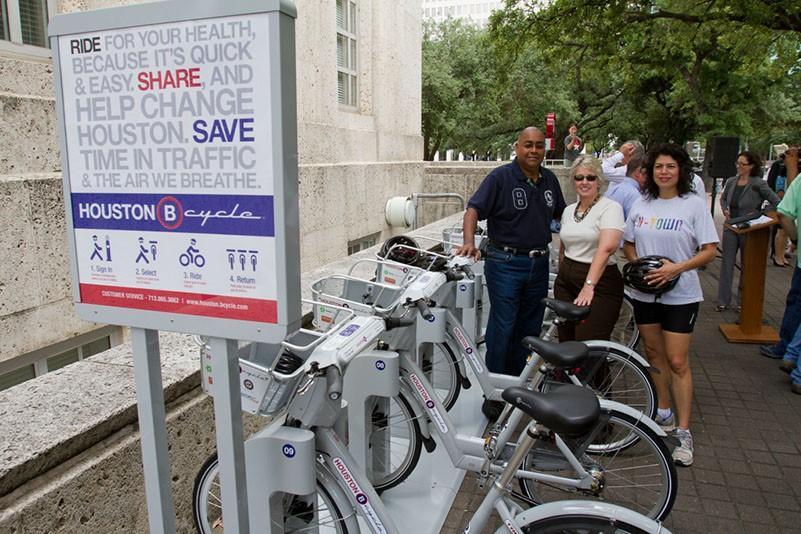 Houston B-Cycle Kick-Off bike station