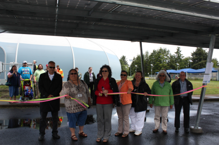 Solar Celebration ribbon cutting by the Siletz Tribal Council