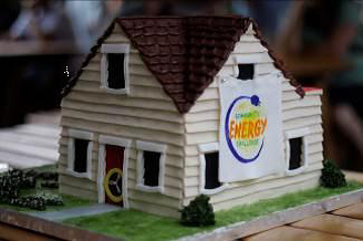 Community Energy Challenge birthday cake