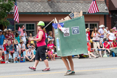 Construction recycling participates