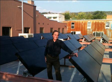 Solar panels on an RSBP coffee shop