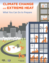 Image of the cover of the 'Climate Change and Extreme Heat: What You Can Do to Prepare' cover