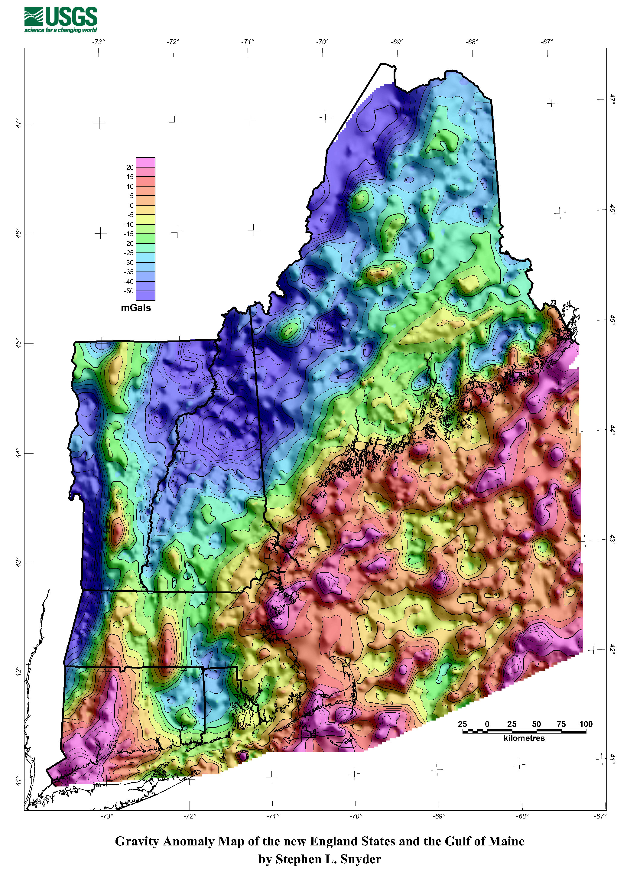 Topography Map Of Maine.Gravity Methods Environmental Geophysics Us Epa