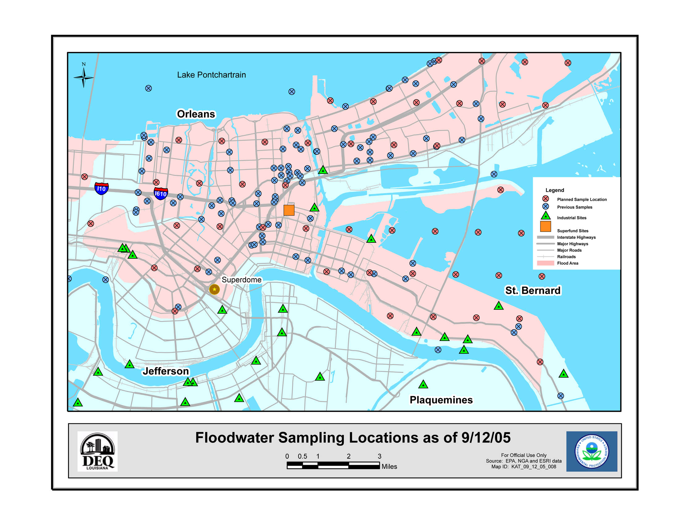 Newsroom Response To  Hurricanes US EPA - Map of new orleans area