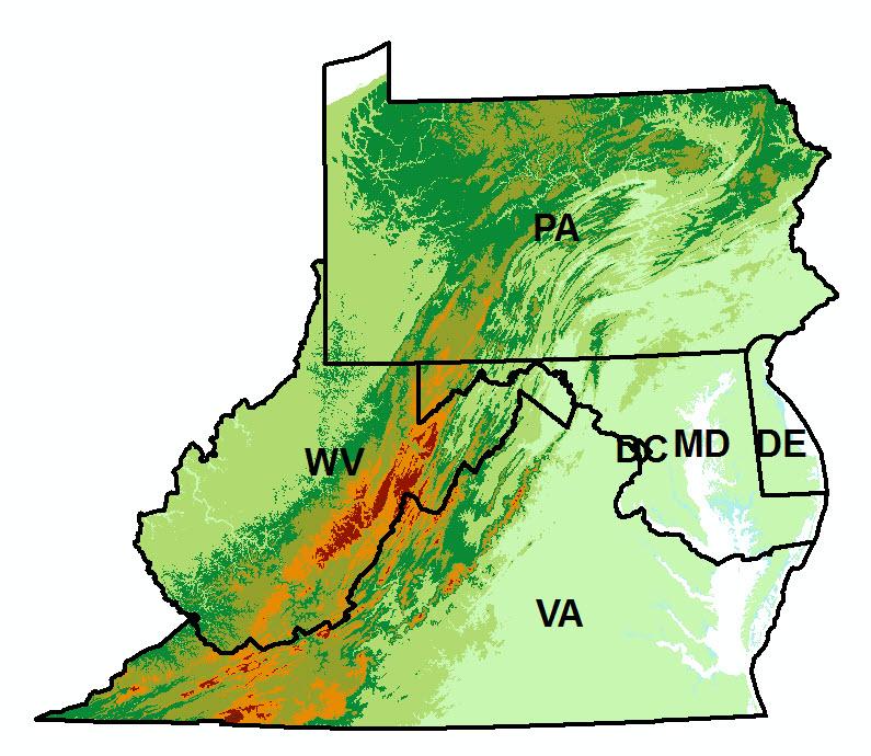 Topographic Map West Virginia.Rcra Subtitle C State Authorization Records Star Region 3 Rcra